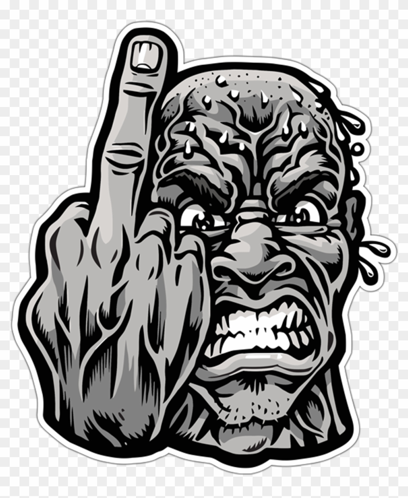 Car motorbike stickers angry man sticker hd png download