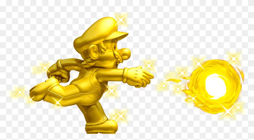New Super Mario Bros 2 Gold Mario Hd Png Download 4264x2161