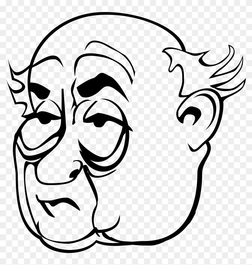 Grinch Face Svg Picture Medium Size Grinch Face Svg Old Man Face Clipart Black And White Hd Png Download 2392x2400 6857530 Pngfind