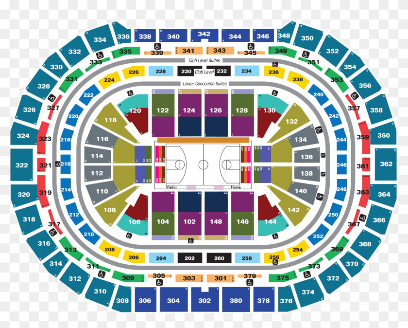 Nuggets Pepsi Center Seating Chart Hd