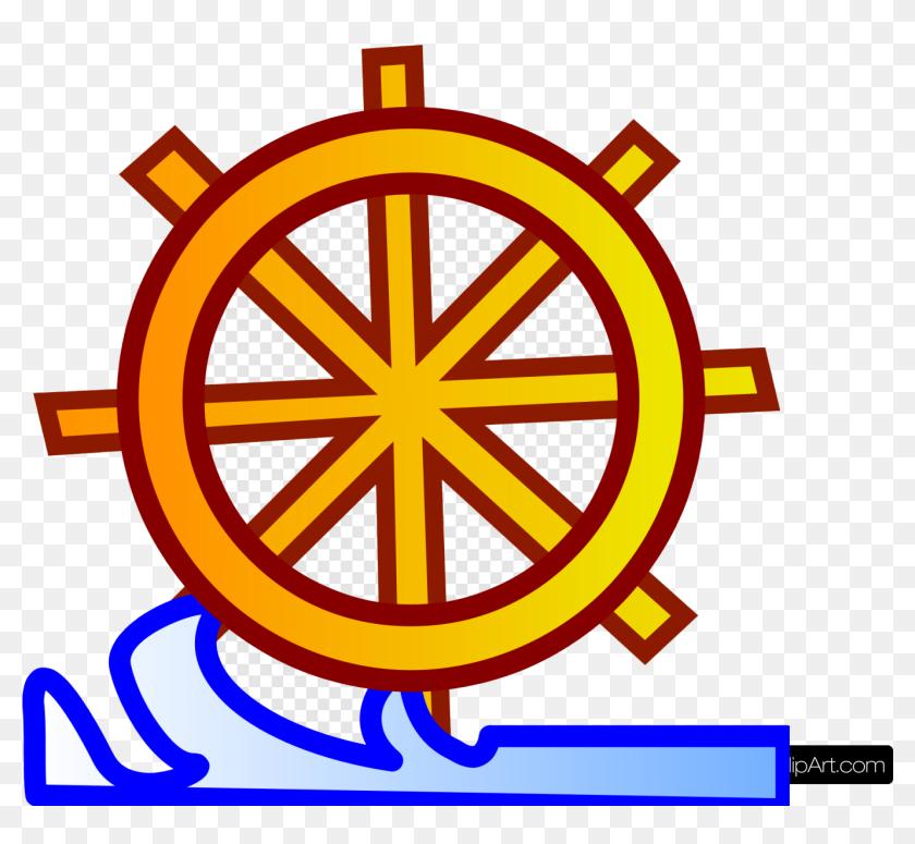 Ship Wheel Gold Cilp Art Ships Anchor Steering Transparent - Ship Steering Wheel  Clipart, HD Png Download - kindpng
