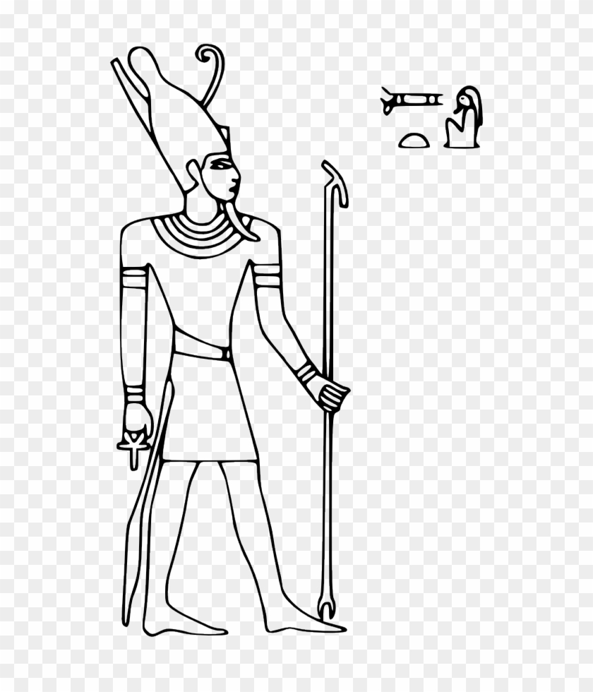 Pharaoh Coloring Pages Egyptian God Egyptian Gods Coloring - Pharaoh Clip  Art Black And White, HD Png Download - 640x900(#698443) - PngFind