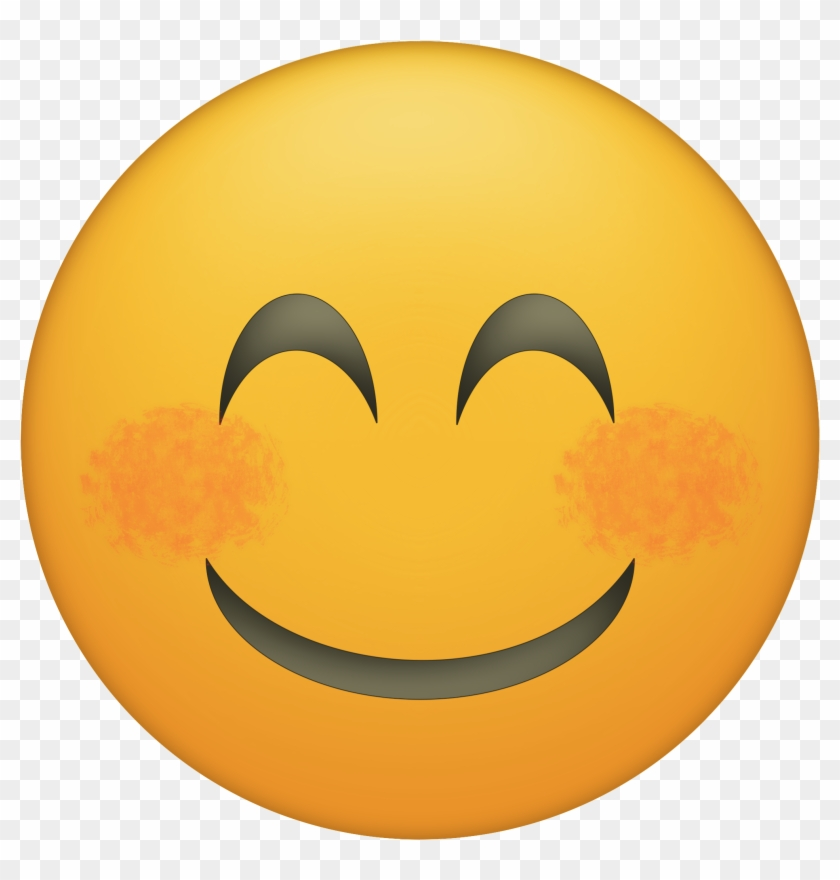 graphic relating to Smiley Face Printable titled Blushing Joyful Facial area Emoji Printable - Hungry Facial area Emoji Png