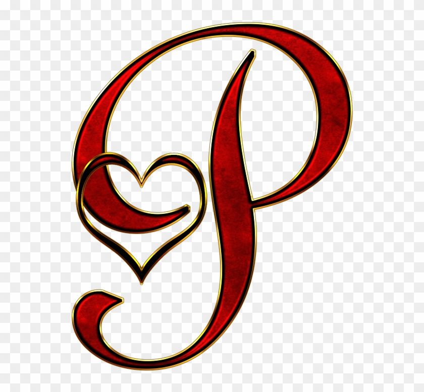 P Letter In Heart Hd, HD Png Download - 622x720(#76541) - PngFind