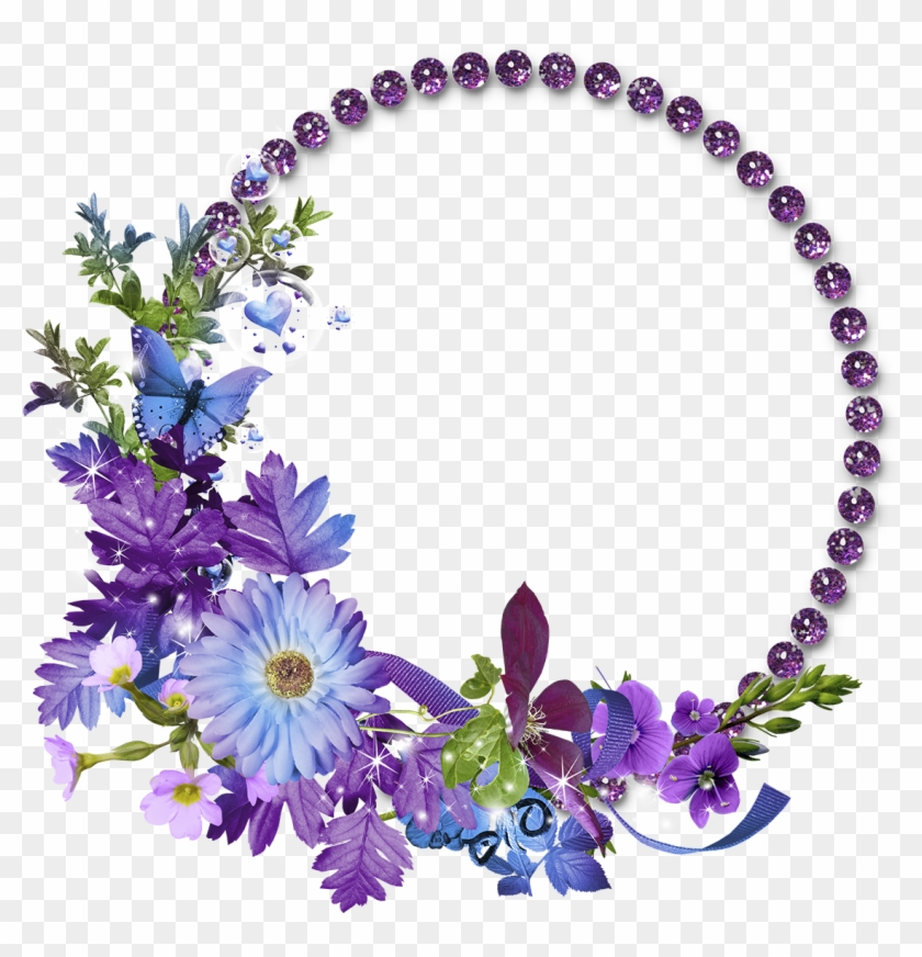 Flower Frame Transparent Background Png - Flower Circle
