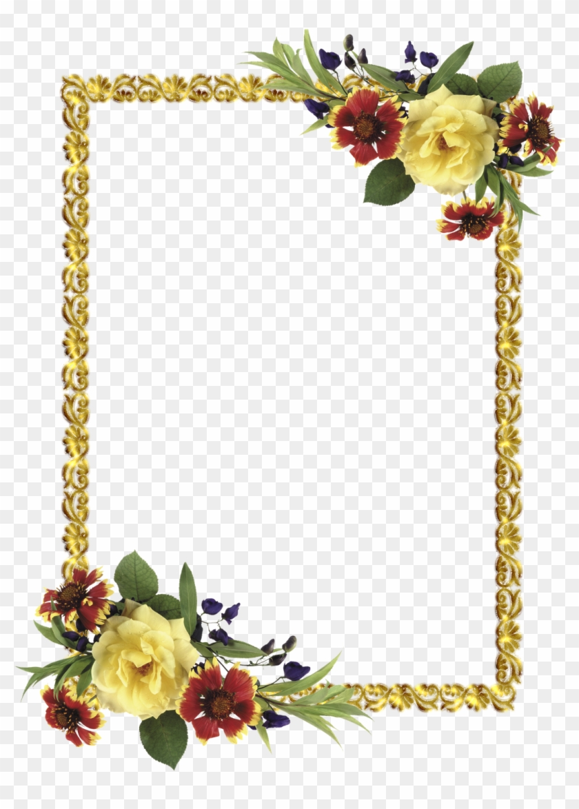 Border Design, Flower Frame, Borders And Frames, Scrapbooking