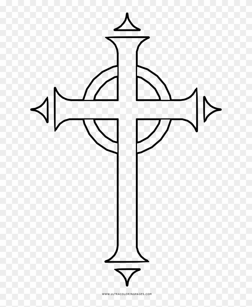 Cross with Wings coloring page | Free Printable Coloring Pages | 1024x840