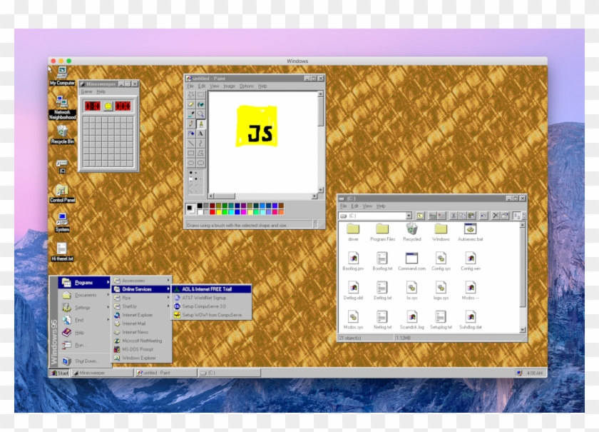 Windows 95 App, HD Png Download - 1268x853(#702056) - PngFind