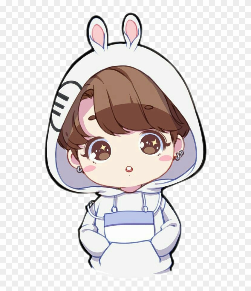 Kpop Chibi Png Cute Bts Jungkook Drawings Transparent Png