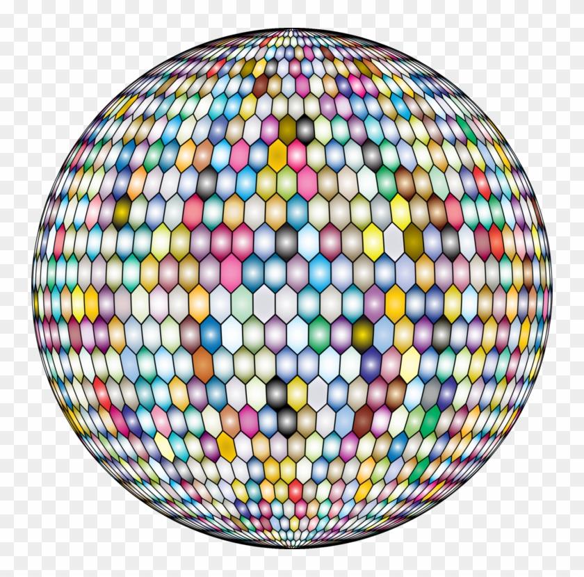 Hexagonal Tiling Sphere Hex Map Geometry - Hexagon Sphere, HD Png