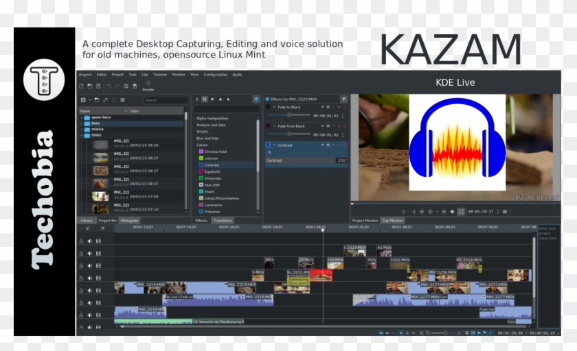 Obs Window Capture Black - Kdenlive Mac, HD Png Download - 1280x720