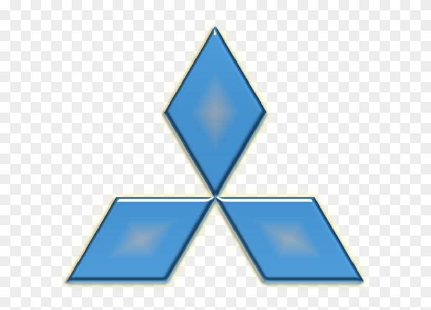 Blue Mitsubishi Logo - Mitsubishi Logo Blue, HD Png Download