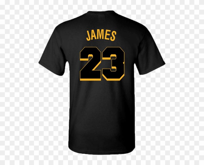03c7c4cab03 Men's La Lakers Logo Lebron James Jersey T-shirt - February Shirts, HD Png