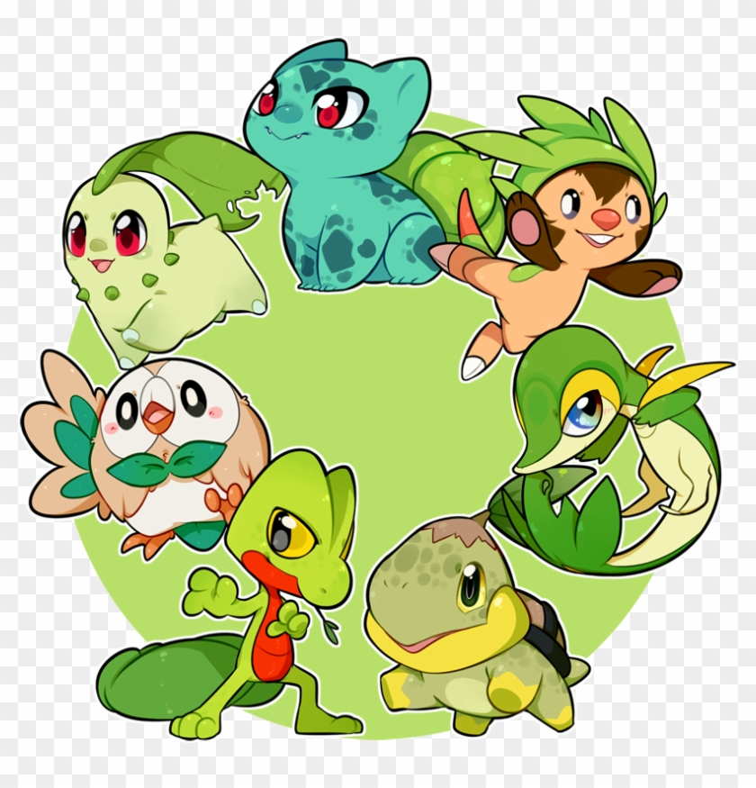 Poketrends All Grass Type Pokemon Starters Hd Png Download