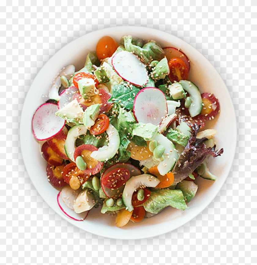 Healthy Salad - Top View Food Plate Png, Transparent Png