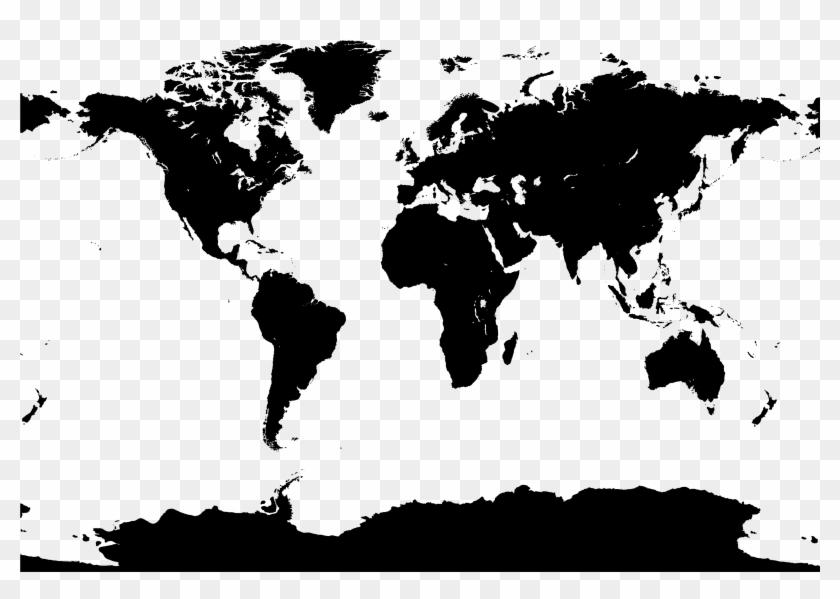 Transparent Png, - World Map Vector Pdf, Png Download - 3592x2416
