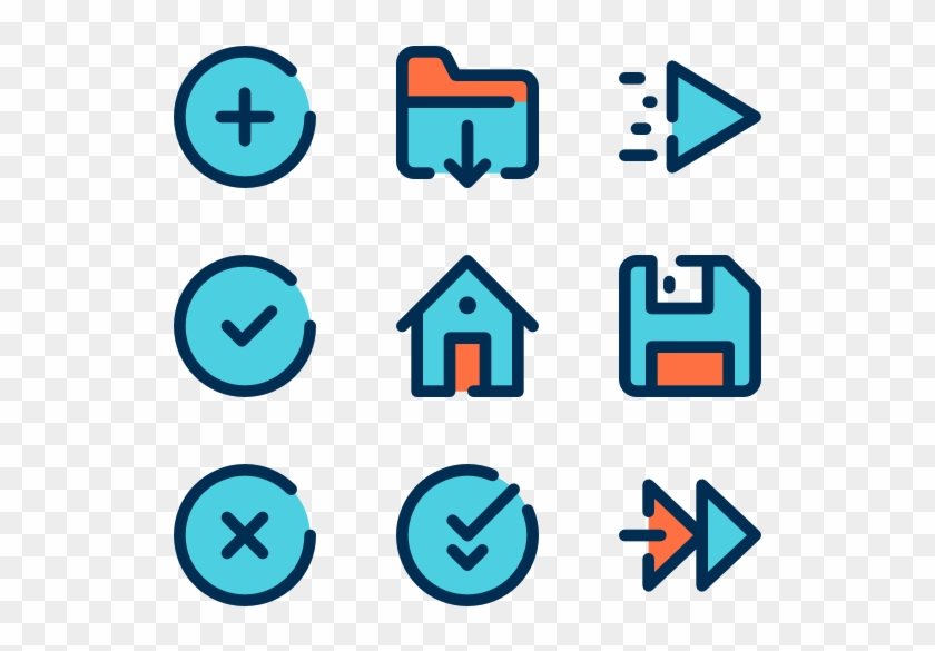 Ui - Button Icon Pack, HD Png Download - 600x564(#746434