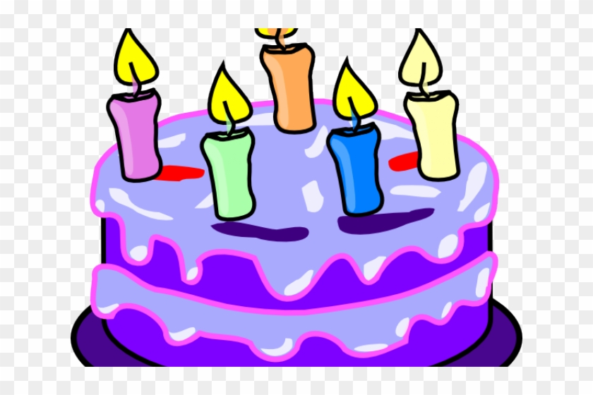 Birthday cake purple. Clip art clipart hd