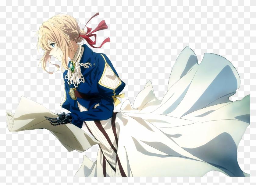 4k Anime Wallpaper Violet Evergarden Hd Png Download