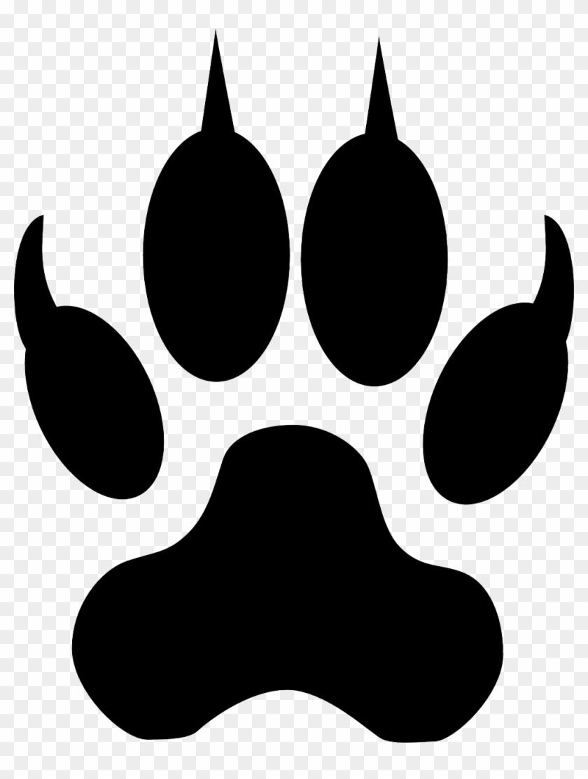 Lion Tiger Dog Cat Paw - Wolf Footstep, HD Png Download