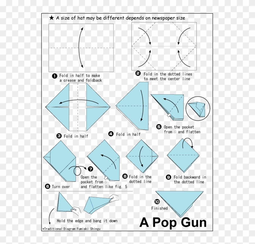 DIY| How To Make a Simple Pistol | Paper Gun | By Dr.Origami - YouTube | 805x840