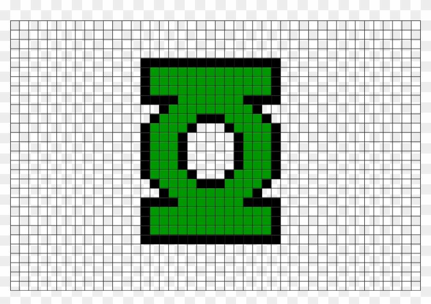 Green Lantern Logo Pixel Art Hd Png Download 880x581 773652 Pngfind