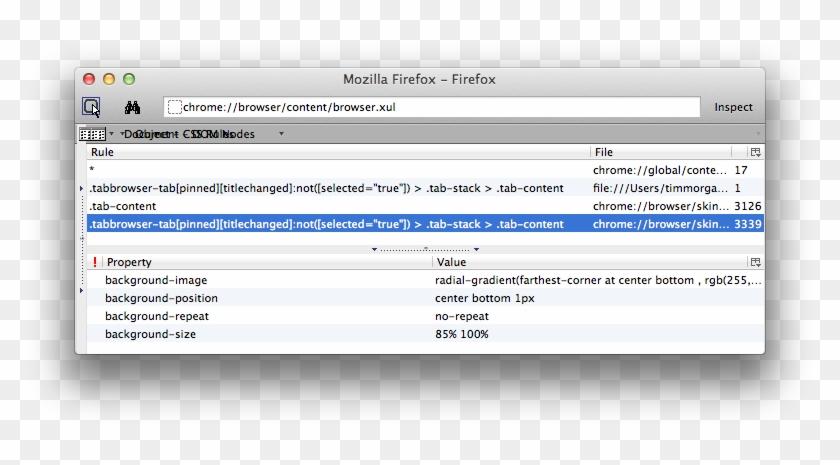 Dom Inspector - Firefox Css Userchrome Inspect, HD Png