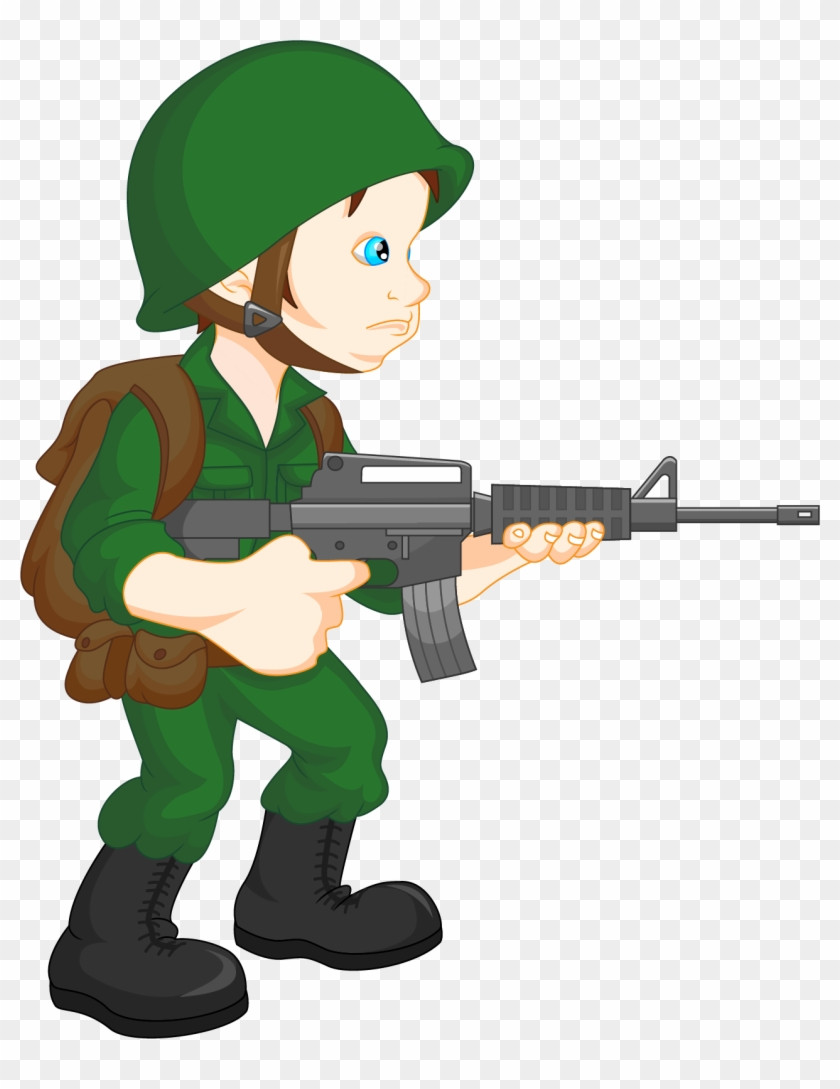 Clip Art Free Soldier Clip Art Heavily Armed Soldiers - Army