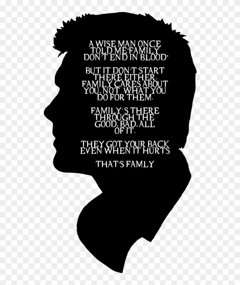 Black And White Supernatural Quote Hd Png Download 500x740 788363 Pngfind