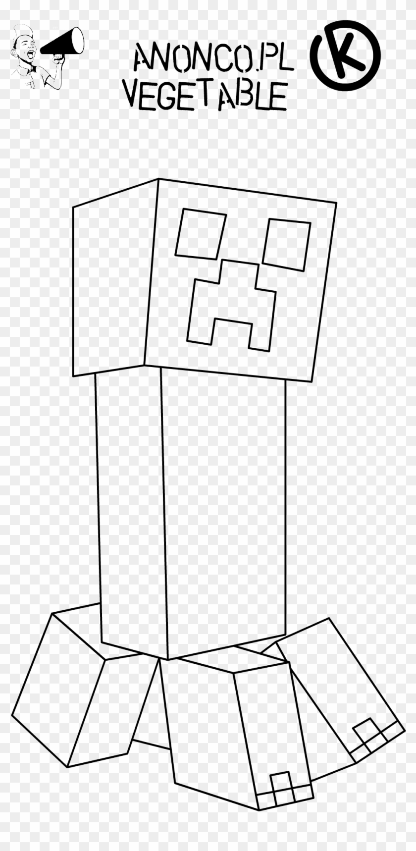 picture about Creeper Face Printable called Minecraft Creeper Deal with Coloring Webpage Cost-free Printable