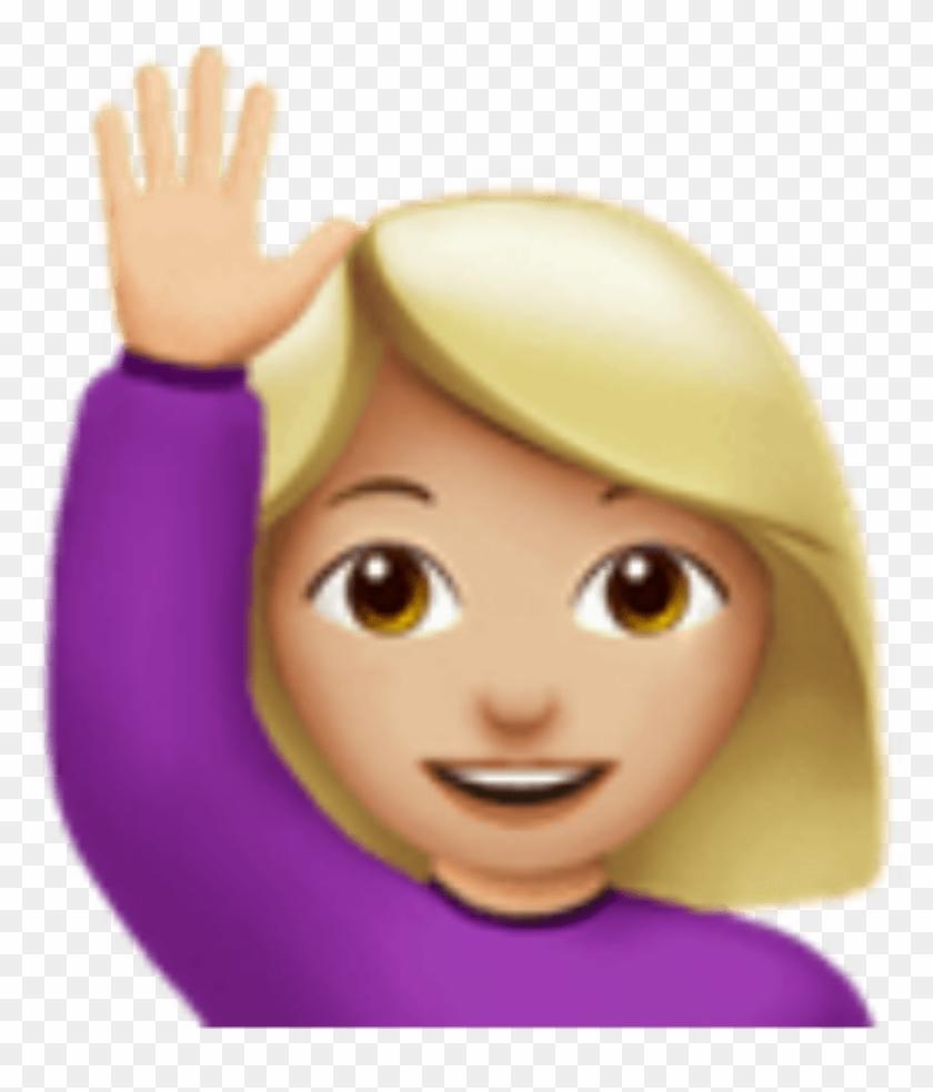 Me Handsup Girl Emoji Imoji Sticker By Kristen - Contact Is