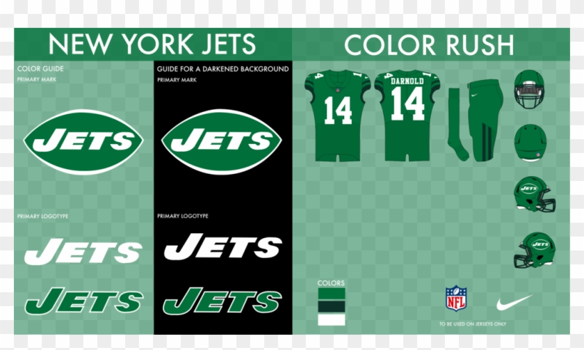 newest 6effa a34ed Nyj Color Rush - Logos And Uniforms Of The New York Jets, HD ...