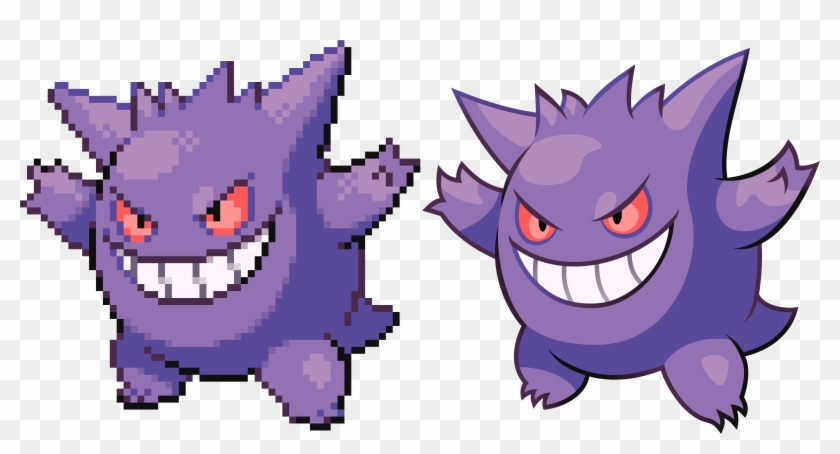 Pokémon Sprite Vector - Gengar Gen 2 Sprite, HD Png Download
