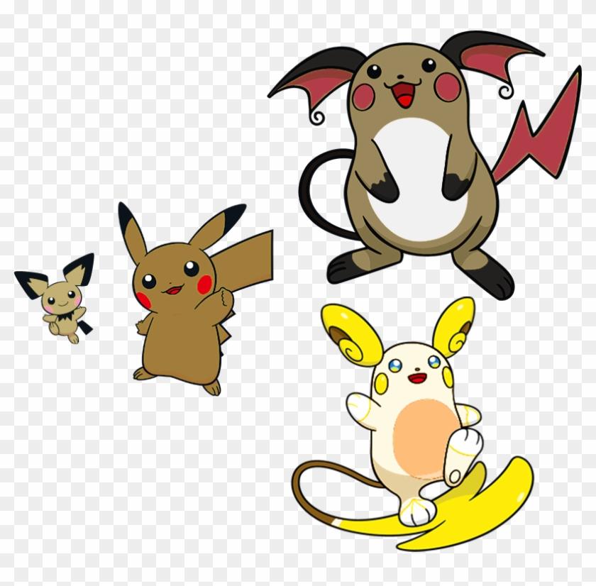 Pichu Pikachu Raichu By High Jump Hd Png Download