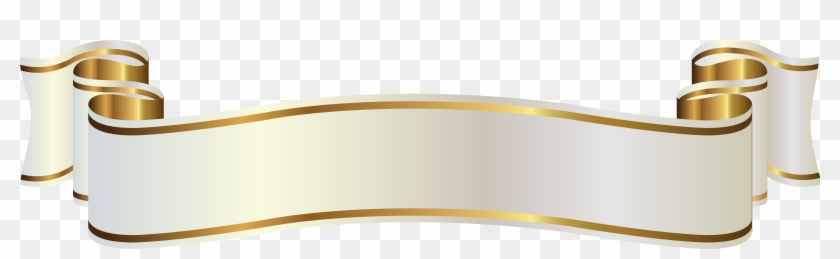 Banner gold. White and png clipart
