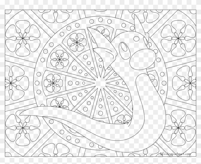Mandala Coloring Pages Pokemon Mew Png Download Transparent Png