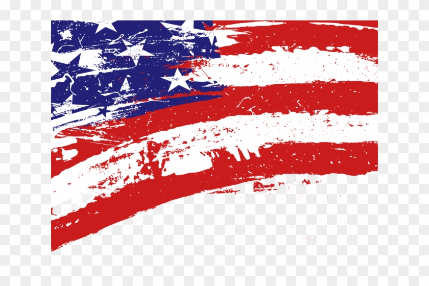 Usa flag american. Map of the clipart