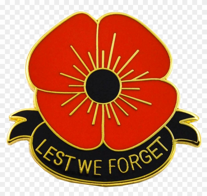 Lest We Forget Poppy Transparent Image - Remembrance Day