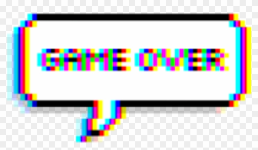 Game Gameover Glitch Tumblr Balloon Text Game Over Glitch Png Transparent Png 907x484 820185 Pngfind
