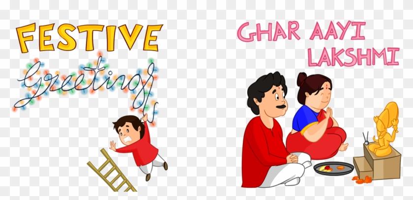 Diwali Sticker Pack On Behance - Sticker Pack Diwali Sticker, HD Png