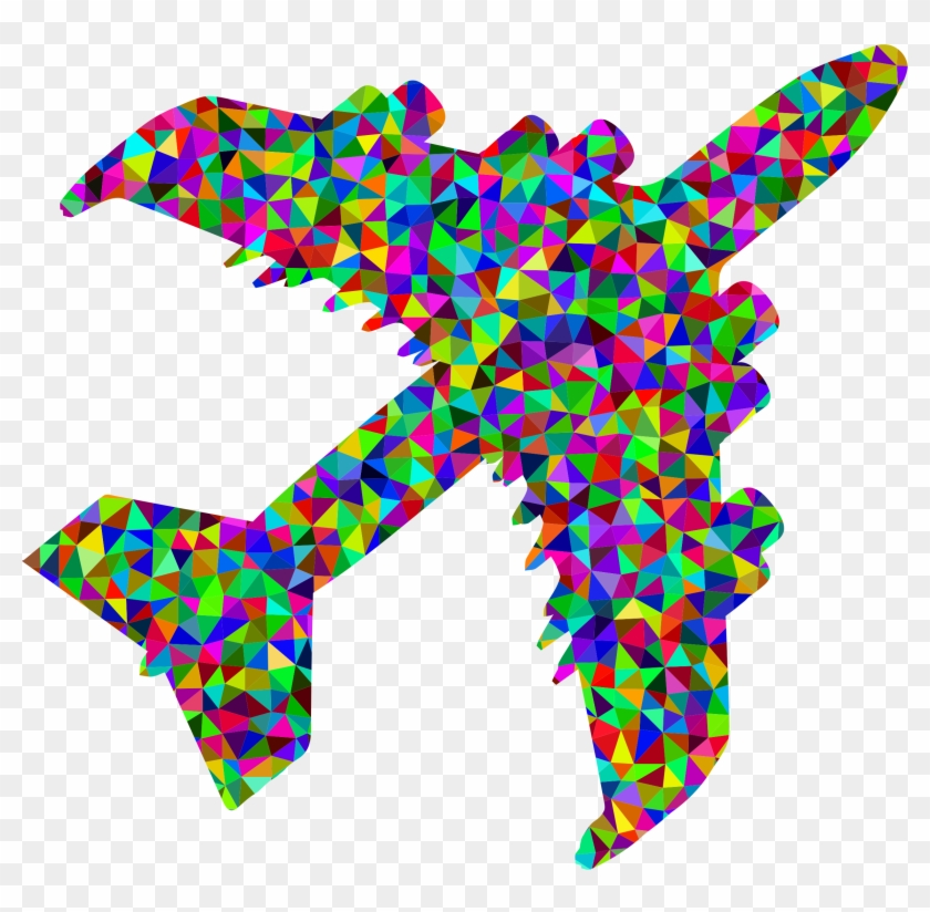Airplane colorful. Clipart png transparent