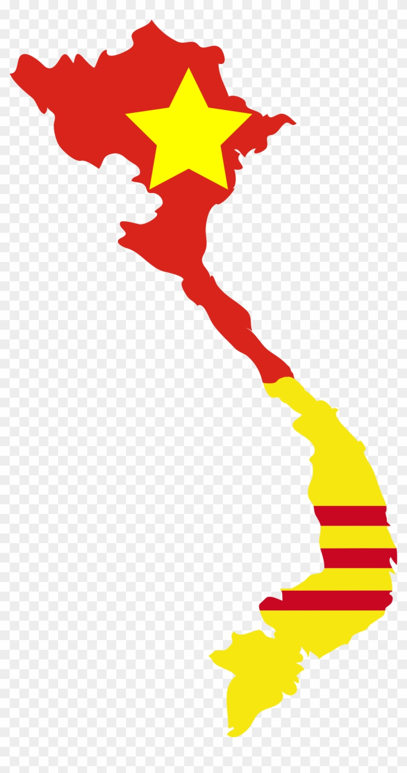 Thailand Flag Clipart Transparent Background Vietnam Map Hd Png Download 1347x2493 829534 Pngfind