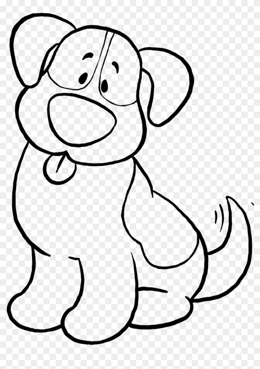Cute Dog Coloring Pages Simple Dog Coloring Sheet Hd Png