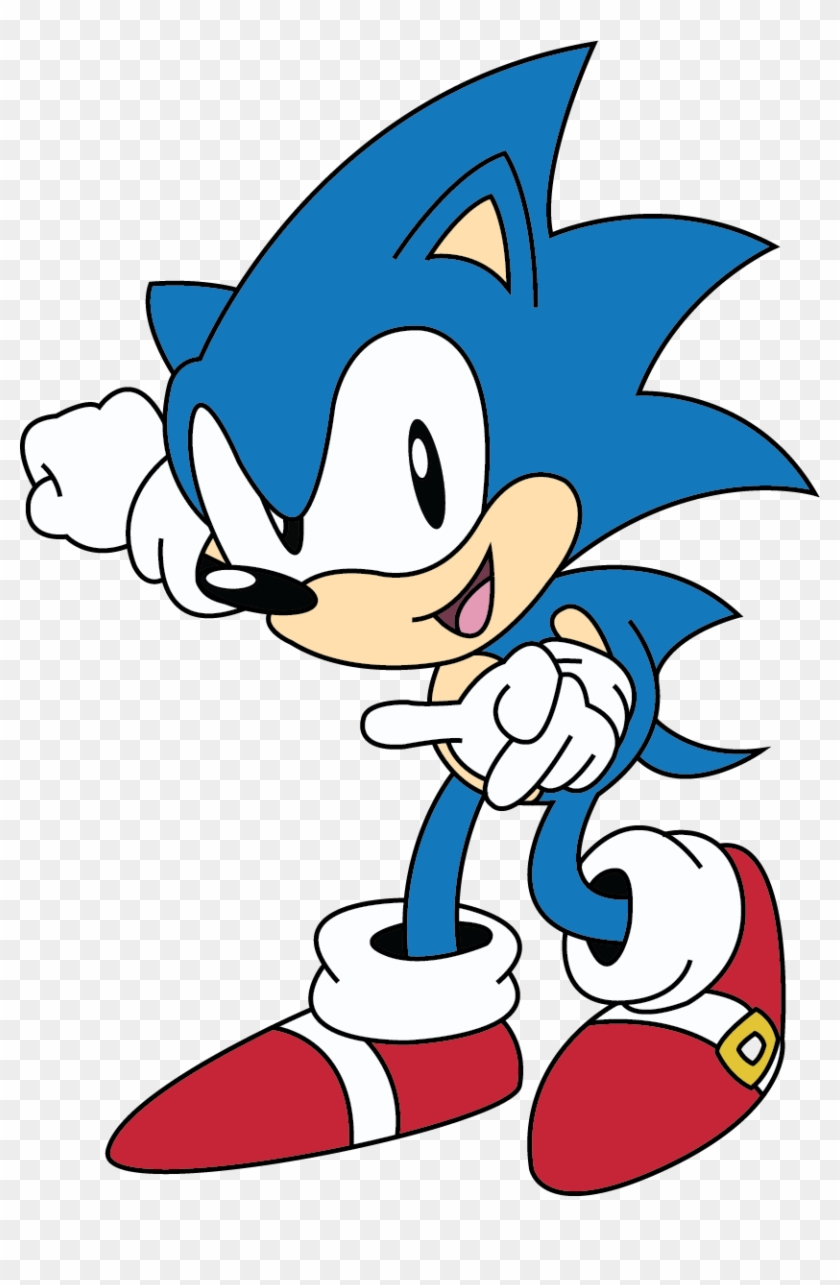 0knu7t7 Classic Sonic The Hedgehog 2d Hd Png Download 833x1205 863407 Pngfind