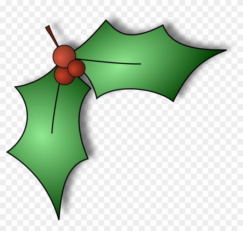 Christmas Holly Png.Holly Right Christmas Holly Clip Art Hd Png Download