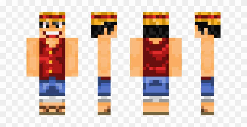 Mcpeskin Minecraft Skins De Luffy Hd Png Download 750x442 879937 Pngfind