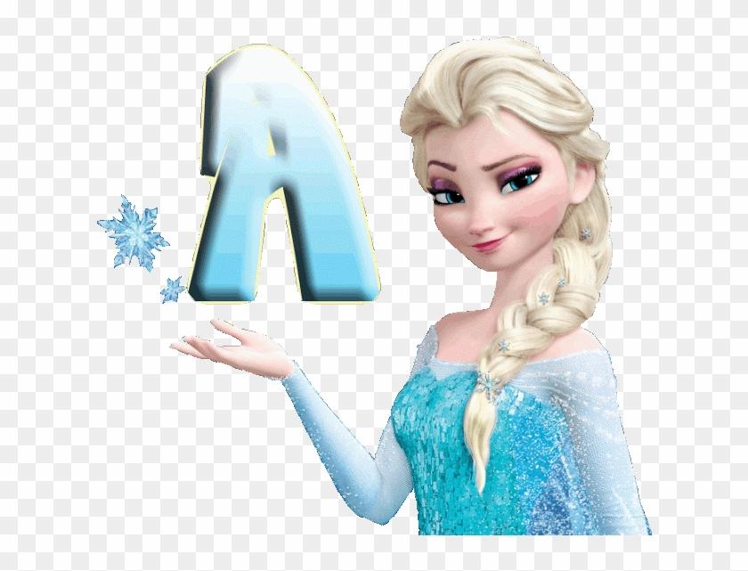 Alfabeto Decorativo Frozen Png Princess Elsa Transparent Png