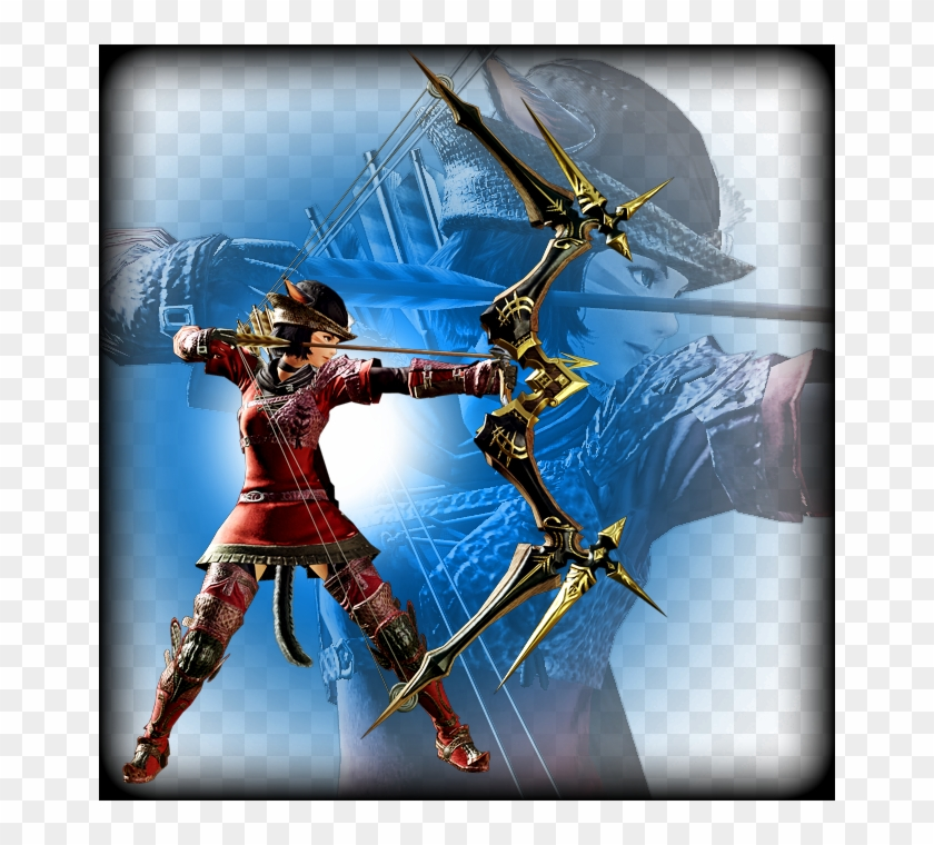 Archer - Final Fantasy Xiv Bard Bow, HD Png Download - 662x680