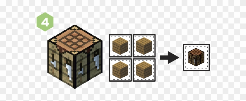 Interact With Your Crafting Table, Then Craft Sticks
