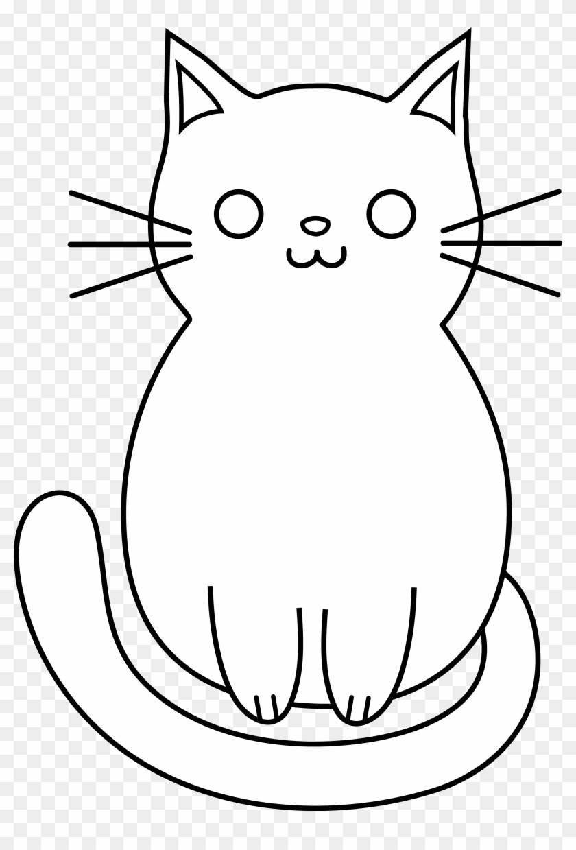 How To Draw A Cat Head Eye Winter Cartoons Clip Art Black And White Hd Png Download 3528x5039 95871 Pngfind